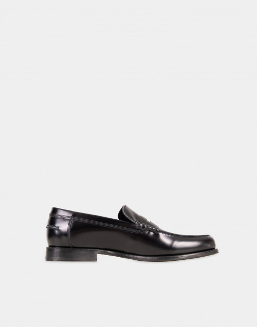 Black patent leather Teddy loafer