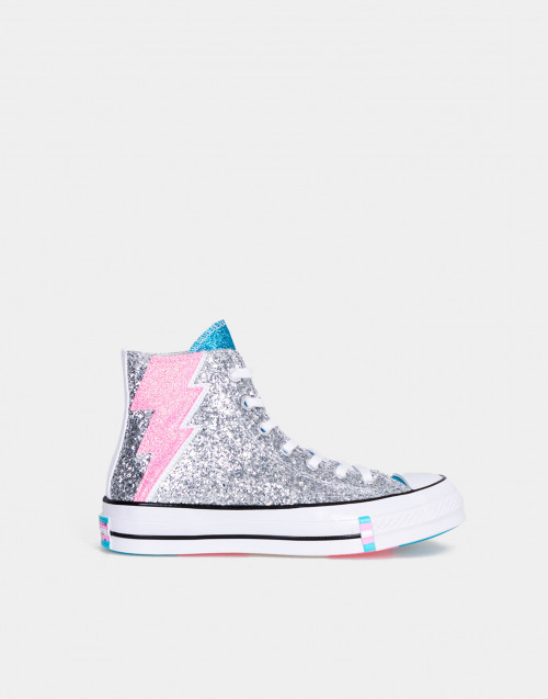 Chuck 70 Pride High Top Argento