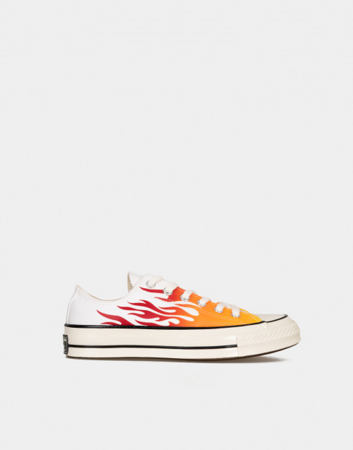 Sneakers Chuck 70 Low-top bianco con Fiamme