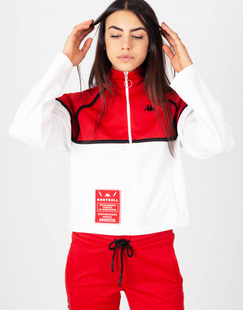 Triacetate white and red hoodie