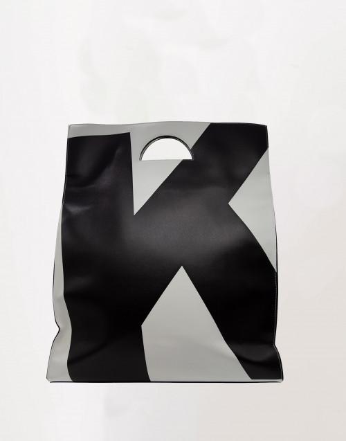 Black and white maxi shopper