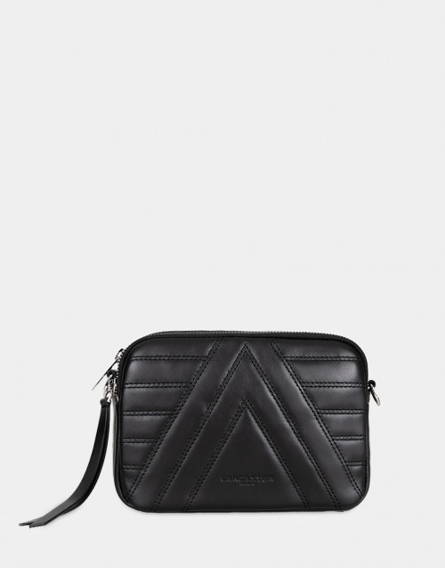 Parisienne black leather crossbody bag