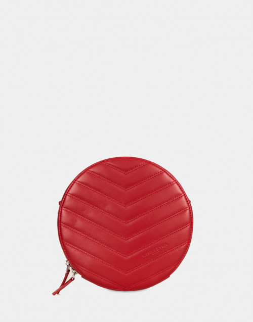 Parisienne red leather crossbody bag