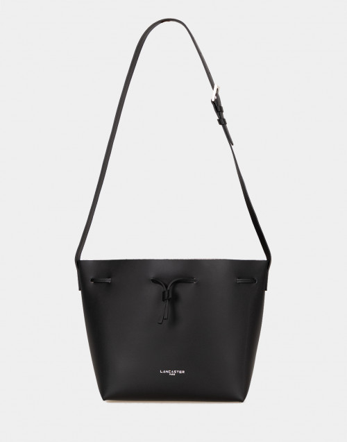 Costance black leather tote bag