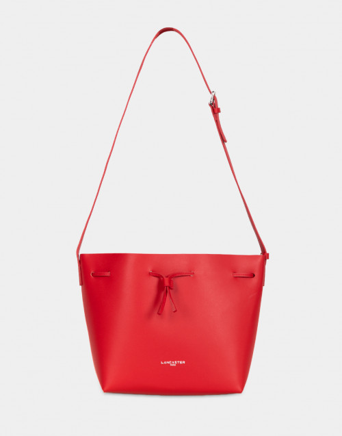 Costance red leather tote bag