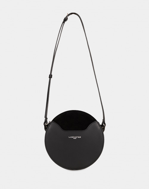Vendome Lune black leather crossbody bag