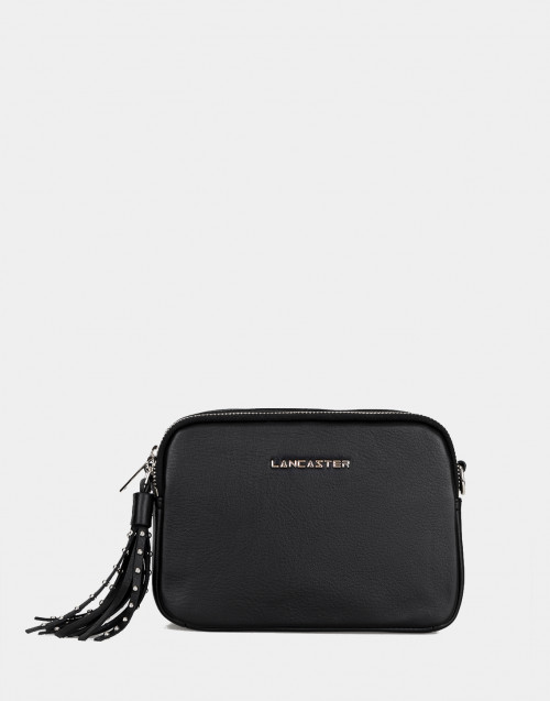 Annae black leather crossbody bag