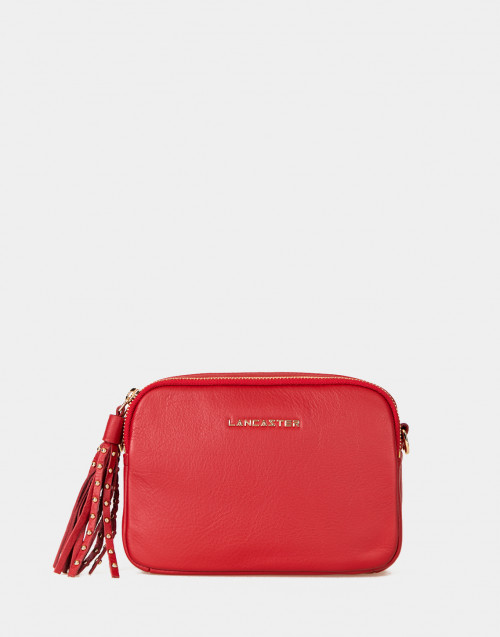 Ana red leather crossbody bag