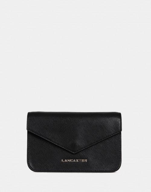 Saffiano Signature black mini clutch