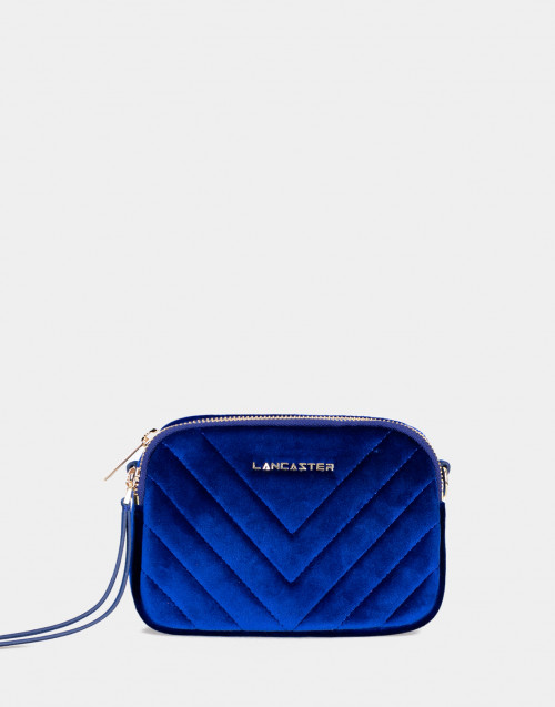 Annae blue velvet belt bag