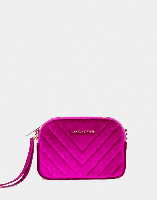 Belt bag in velluto fucsia Annae