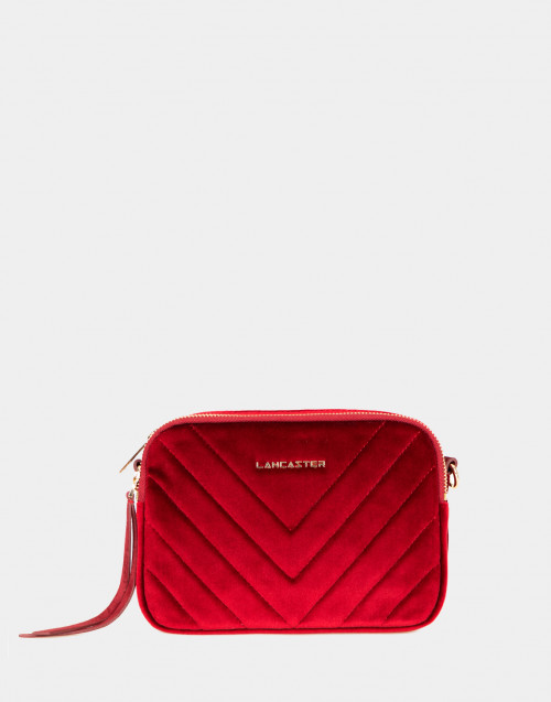 Annae red velvet crossbody bag