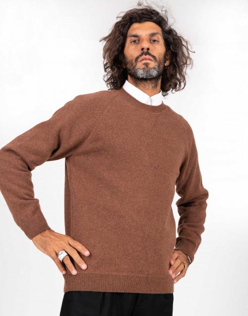 Maglione color cammello in lana