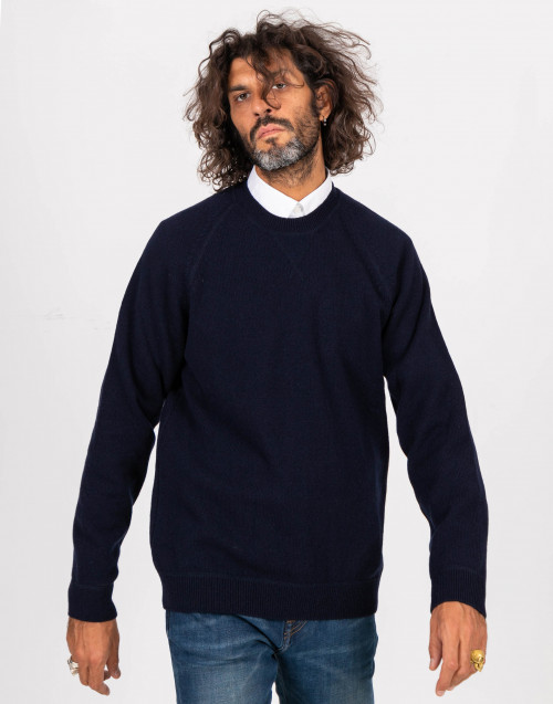 Night blue wool shirt