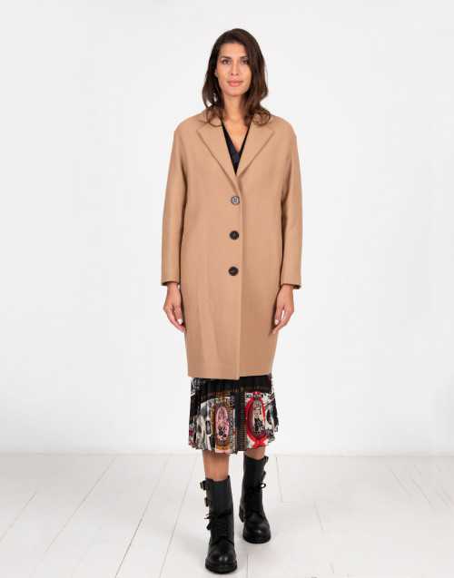 Cappotto Claudette in lana color cammello