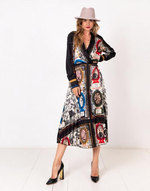 Vestito in raso stampato