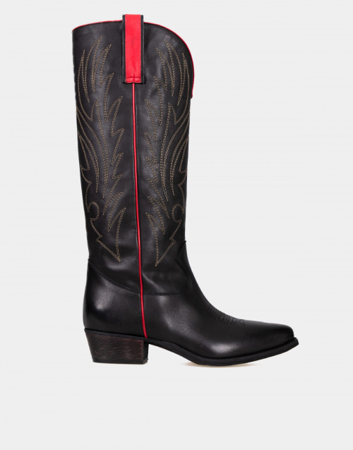 Knee high western boots