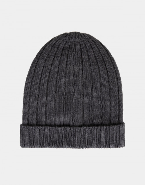 Grey wool beanie
