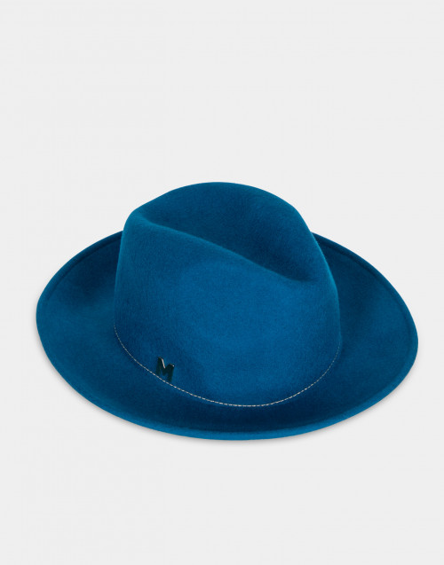 Cappello Angela in feltro azzurro