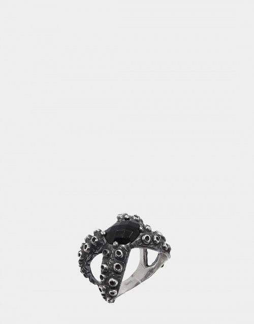 Octopus & Gem ring