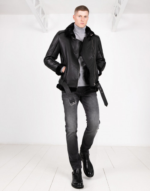 SHEARLING LEATHER JACKET