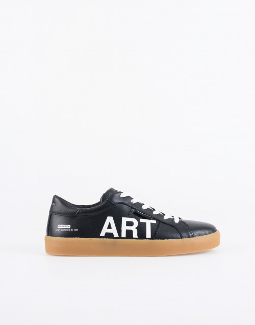 M806 art frieze sneakers black