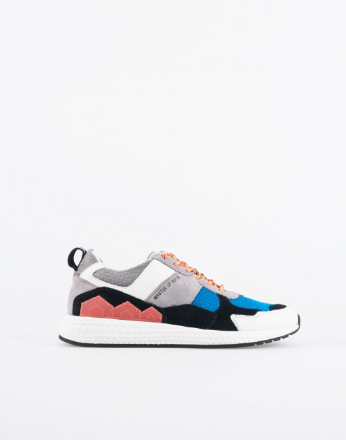M830 futura sneakers grey, black and orange