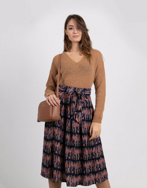 Multicolor midi skirt