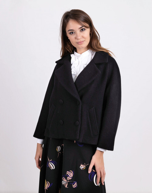 Black cropped coat