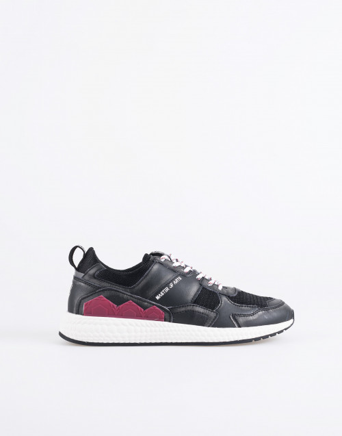 M833 futura sneakers black and burgundy