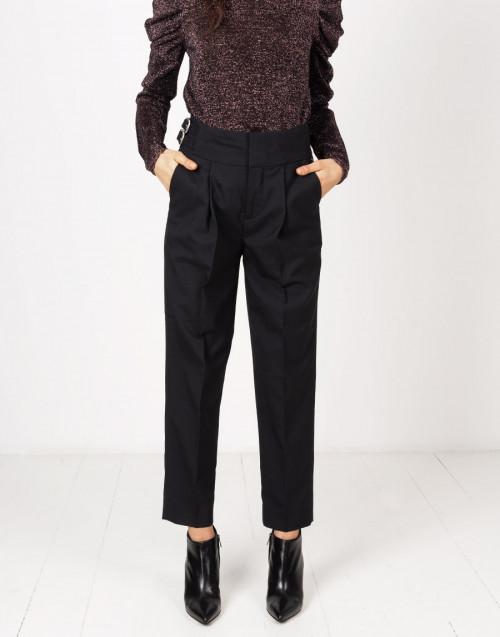 Pantaloni chino nero lana