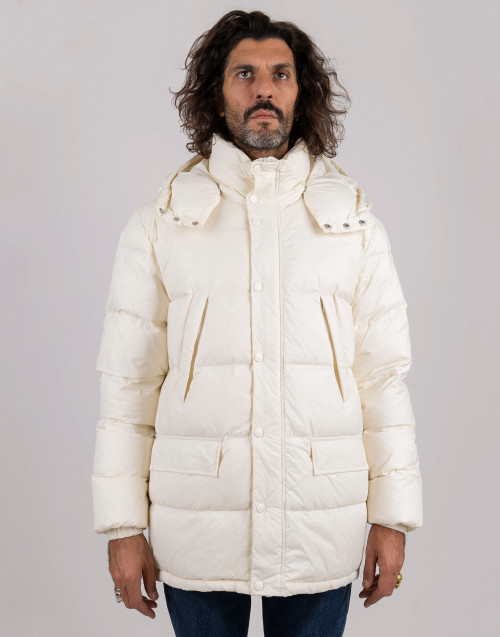 White quilted down jacket