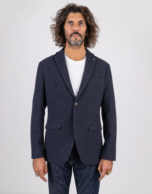 Blue single-breasted blazer