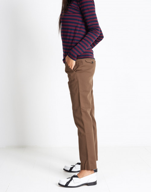 Brown chino slim trousers