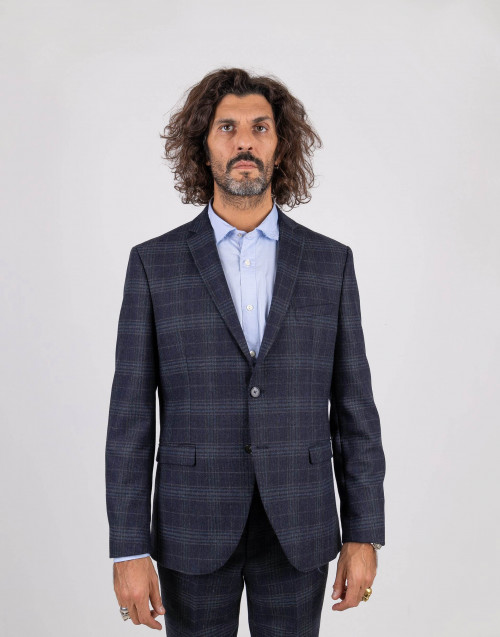 Blue prince of wales blazer