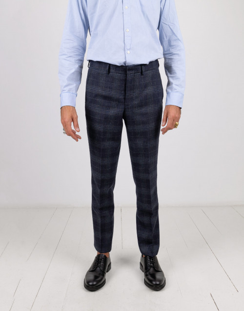 Blue prince of wales trousers