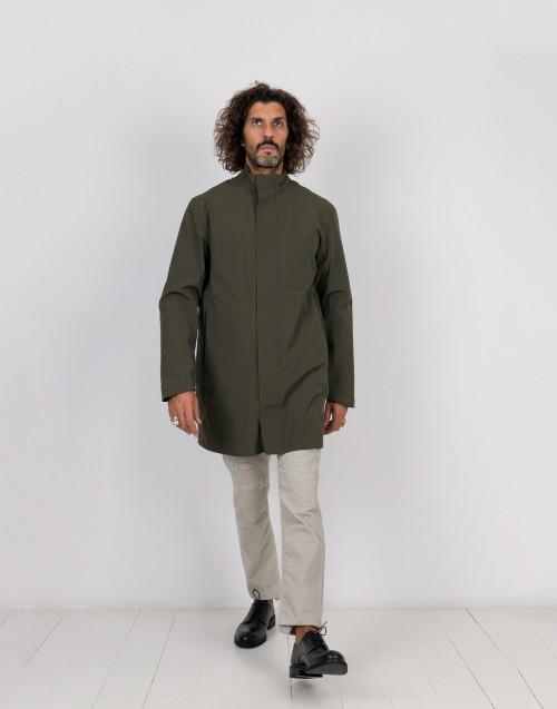 Parka tecnico verde militare con giacca piumino interna