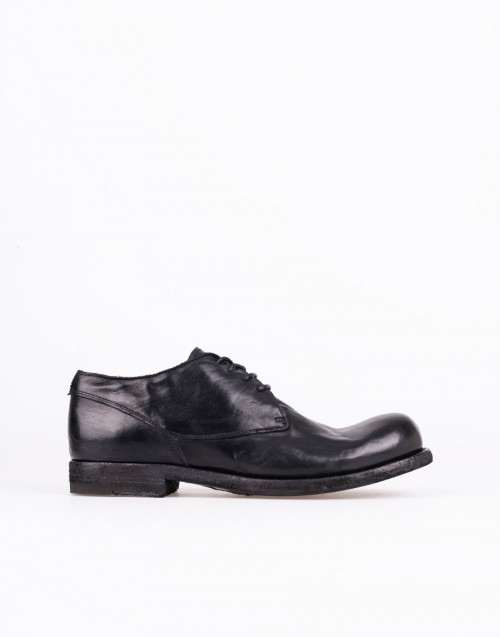 Bubble 72 laced shoe black leather
