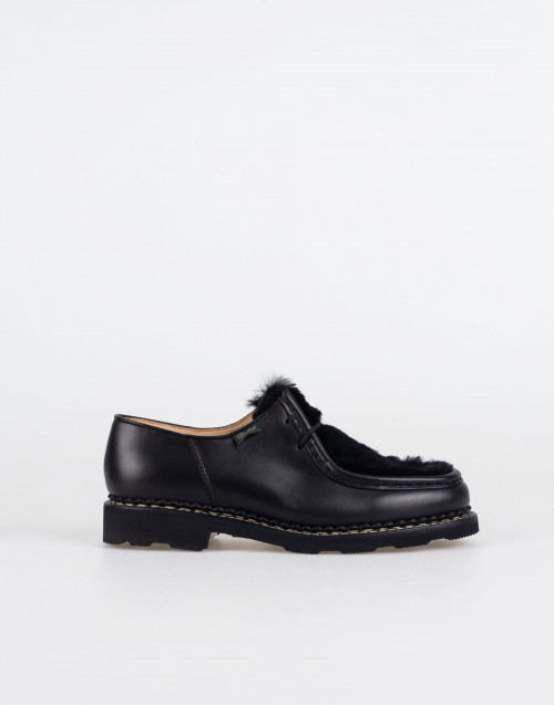 Derby shoes lapin michael made with black leather