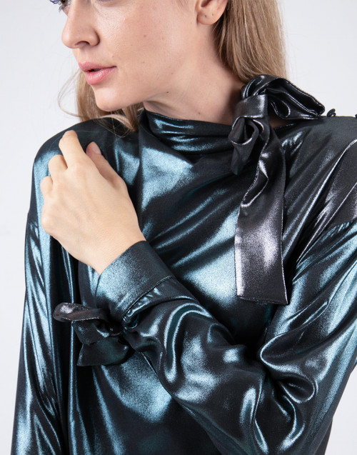 Camicia in laminato smeraldo