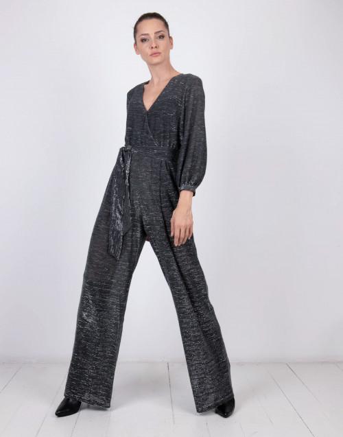 Silver lurex jumpsuit