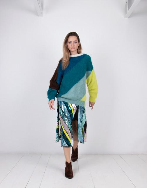 Maglione in alpaca multicolor