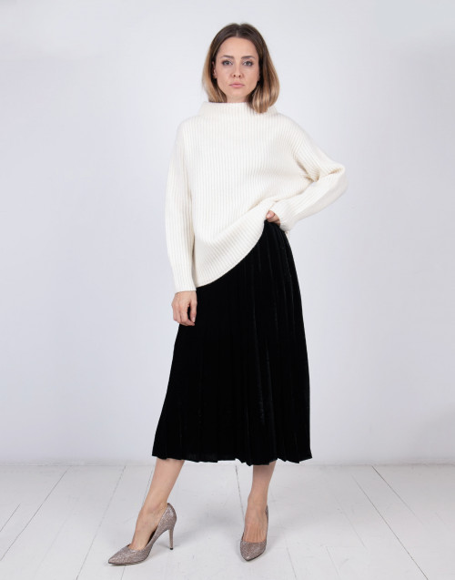 Wool blend knit sweater