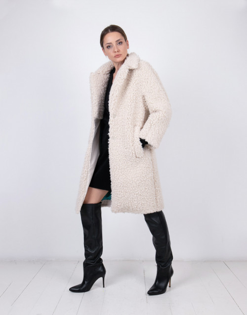 Eco fur teddy coat