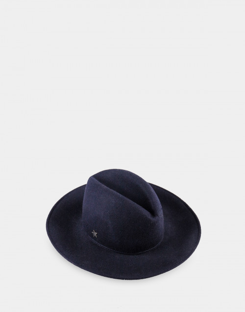 Blue wool Alain hat