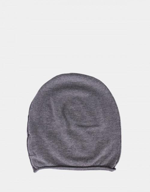 Cuffia in lana grigio