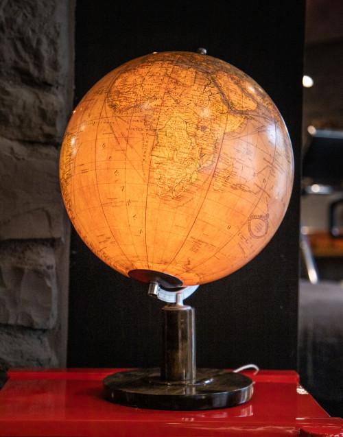 Columbus globe with lighting