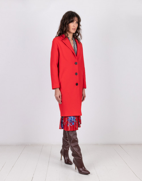 One breast wool coat