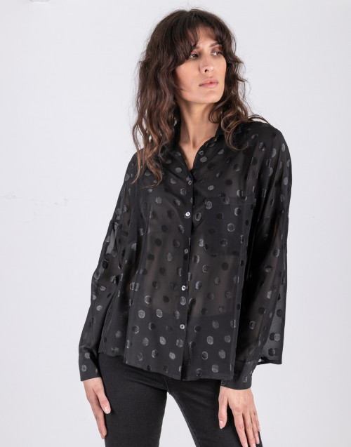 Printed micro poise shirt