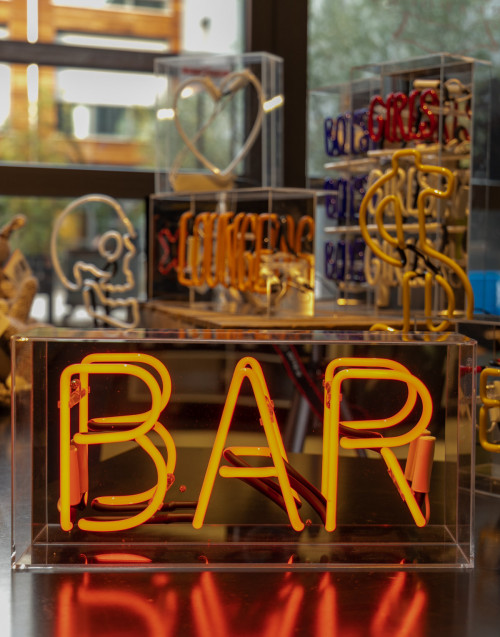 "BOX neon in acrilico ""Bar"""